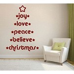 Joy, Love, Peace, Believe Wall Decal