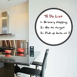 Round Dry Erase Wall Decal