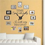 Family Clock Wall Quote Decal