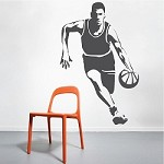 Running Basketball Player Wall Decal