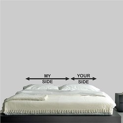 My Side, Your Side Headboard Wall Decal