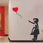 Heart Balloon Girl Wall Decal