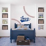 Customizable Baseball Wall Decal