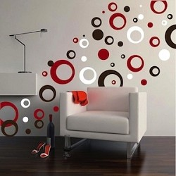Thick Rings & Dots Vinyl Wall Art