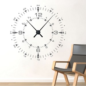 Military Clock Decal