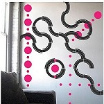 Dot Tracks Wall Decals