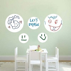 Dry Erase Dot Decals