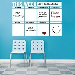 Dry Erase Calendar Decal for Walls