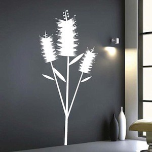Edgy Flower Wall Art Decal