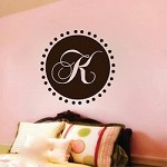 Script Initial Monogram Decal for Walls