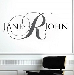 Fancy Name Initial Wall Decal