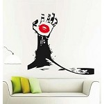 Hand With Lips Wall Decal