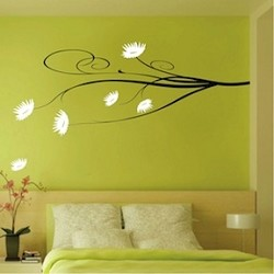 Posh Flower Branch Wall Decal