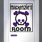 Cute Skeleton Room Sign