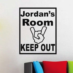 Boys Room Sign