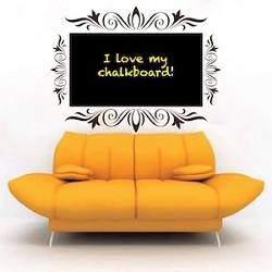 Chalkboard Decal With Borders