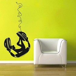 Chill Chick On Headphones Wall Decal