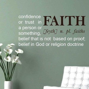 Faith Definition Wall Quote
