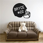 Customizable Football Helmet Wall Appliqué