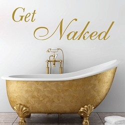Get Naked Bathroom Wall Art 15q