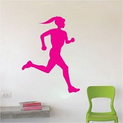 Runner Chick Wall Decal