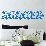 Customizable Graffonti Font Wall Letterings