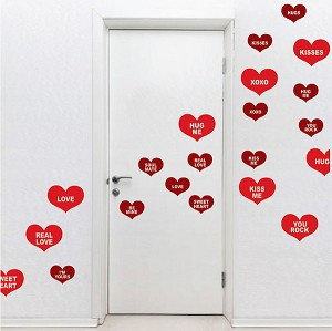 Conversation Hearts Wall Decals