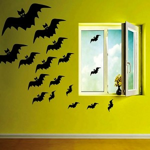 Flying Bats Halloween Decals