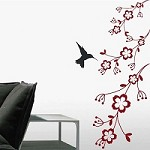 Hummingbird Feeder Wall Art Design