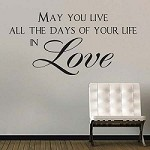 Love Vinyl Quote Decal for Bedrooms