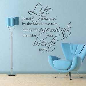 Life, Moments, Breath Wall Art Design