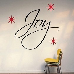 Joy Christmas Wall Quote