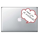 Dialogue Cloud Bubble Dry Erase Decal
