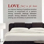 LOVE: Definition Wall Decal Letters