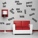 Valentine Word Cloud Decal