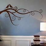 Love Bird Branch Wall Art Design