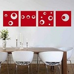 Modern Art Squares Wall Decals