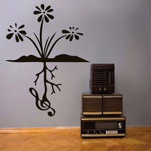 Music Root Wall Decal