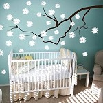 Nursery Contemporary Floral Branch Wall Decal