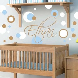 Cute Polka Dot Vinyl Wall Decals