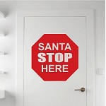 Santa Stop Christmas Wall Decal