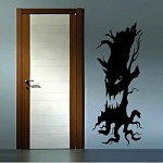 Scary Tree Halloween Wall Decal
