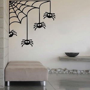 Corner Spider Web Halloween Decal