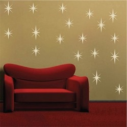 Sparkly Star Wall Decals