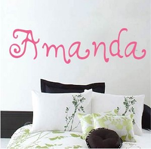 Customizable Teenage Girl 2 Name Font