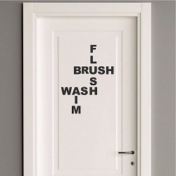 Cute Bathroom Wall Decal Saying
