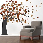 Autumn Spring Tree Wall Decal