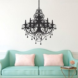 Rustic Chandelier Decal Sticker