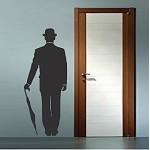 Charlie Chaplin Wall Decal