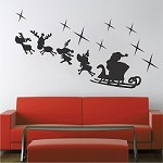 Santa Reindeer Decoration Mural